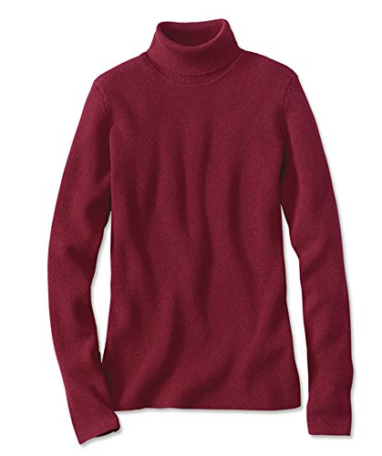 Orvis Women's Ribbed Cotton-blend Turtleneck, Ruby, X Large (Orvis Cotton Cardigan)