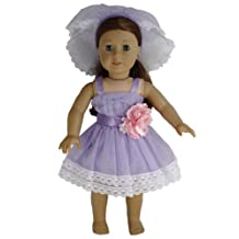 BUYS BY BELLA Light Purple Bridesmaid Dress for 18 Inch Dolls Like American Girl