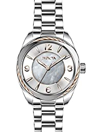 Women's Bolt Quartz Watch with Stainless Steel Strap, Silver, 18 (Model: 31217)