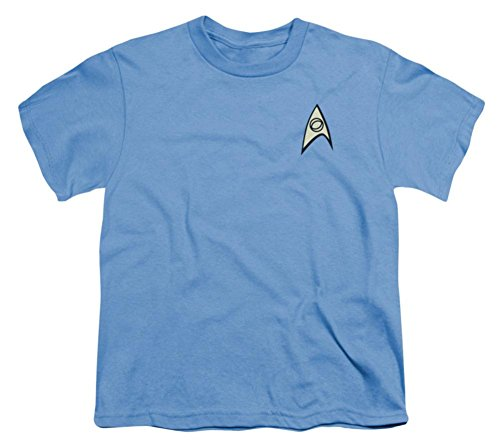 [Youth: Star Trek - Science Uniform Kids T-Shirt Size YM] (Star Trek Uniform Shirts)