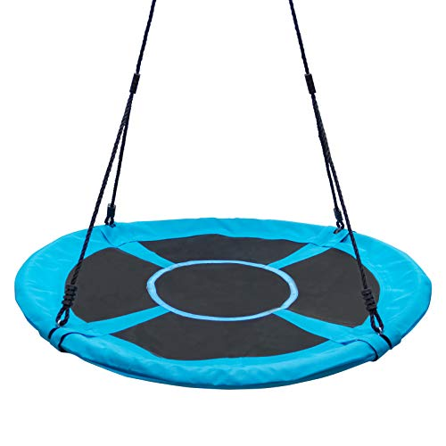 Homde Flying Saucer Swing 40 Inch Anti-Fade Tree Swing Set Outdoor Indoor Swings with Adjustable Straps for Kids, Adults and Teens (40 Inch Upgrade Version)