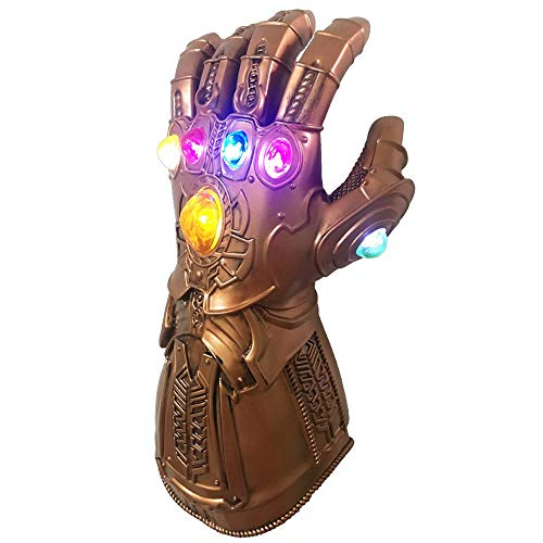 Pvc Gauntlet - LED Light PVC Electronic for Infinity War Gauntlet Fist Cosplay Props for Halloween Carnival Party Gold