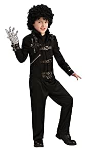 Michael Jackson Child's Bad Buckle Jacket Costume Accessory, Large