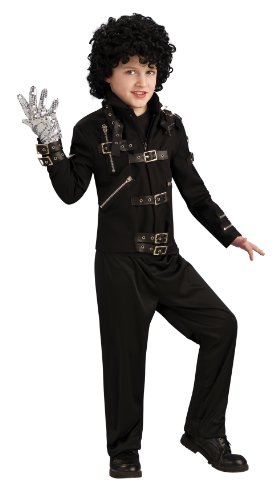 Michael Jackson Child's Bad Buckle Jacket Costume Accessory, Medium -