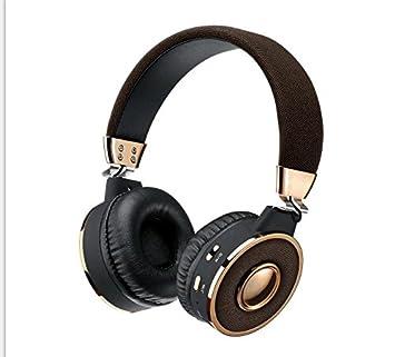 KANEN BT08 auriculares inalámbricos Bluetooth auriculares estéreo de metal con micrófono TF tarjeta Micor SD FM Radio: Amazon.es: Electrónica