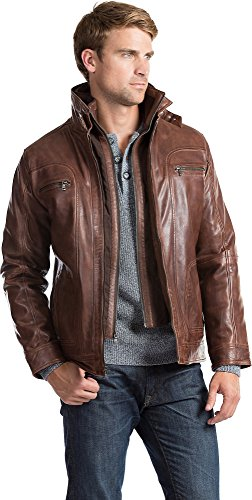 Lambskin Leather Fashion Jacket (Memphis Lambskin Leather Bomber Jacket)