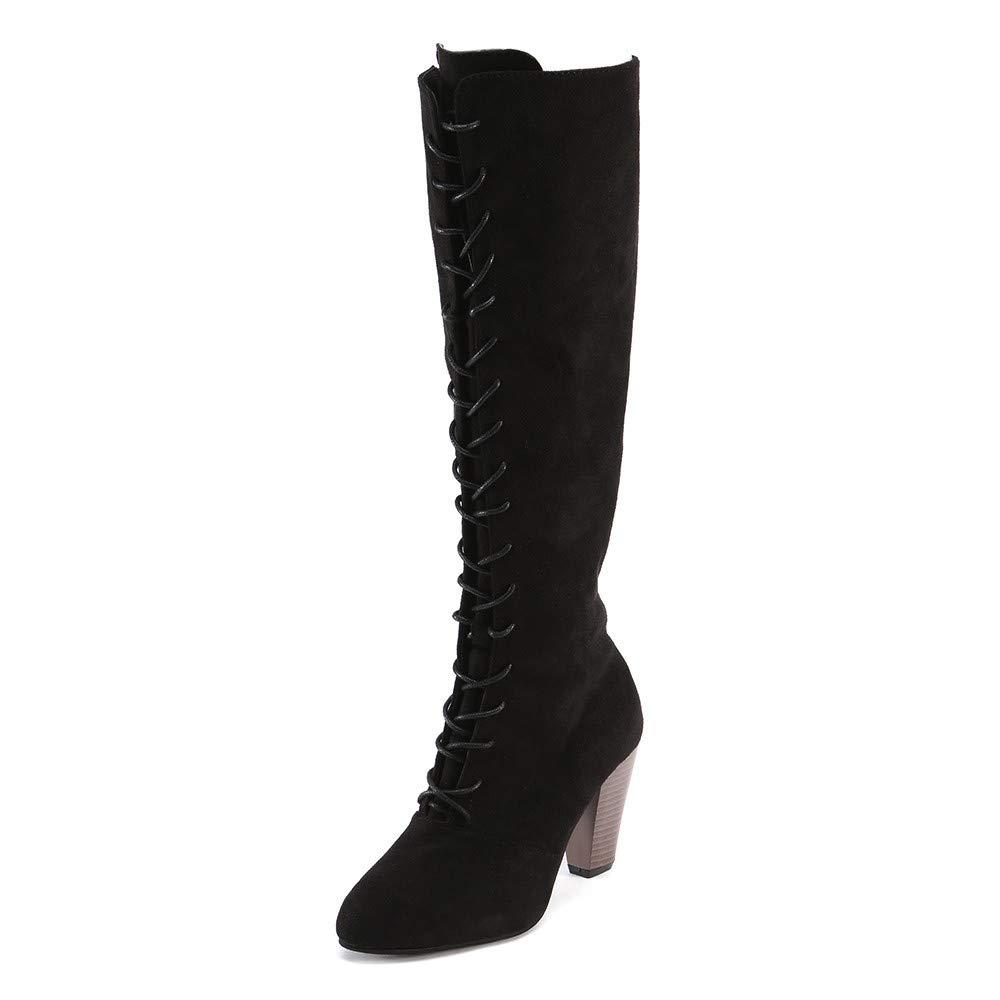 Logobeing Botas Altas para Mujer con Cierre de Cremallera Tacones Mujer Botas Sobre la Rodilla Zapatos de Tacó n Alto Martin Botines Mujer