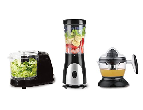 (Eco+Chef Fresh Start Bundle Package: Personal Blender for shakes and smoothies, Citrus juicer compact, Mini Chopper for all kinds of Vegetables)