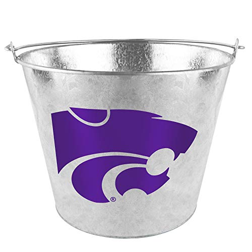 Wildcats Bucket (NCAA Kansas State Galvanized Beer Bucket | Kansas State Wildcats Ice Pail)