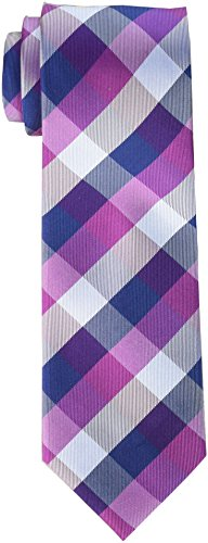 Tommy Hilfiger Men's Buffalo Tartan Tie, Bright Pink, Regular by Tommy Hilfiger