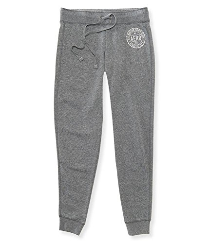 Aeropostale Womens 1987 Team Athletic Jogger Pants, Grey, Medium