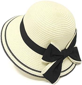 Fashion Sun Protection Beach Outdoor Floppy Summer Sun Beach Straw Hat for Children Color : Brown, Size : 52-55CM Ruiyue Summer Straw Hats
