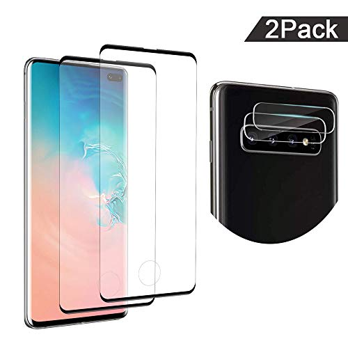 - Glass Screen Protector for Galaxy S10+ with Camera Lens Protector, Anti-Scratch, Bubble Free, 9H Hardness, Ultra Thin,Tempered Glass Screen Protector for Samsung Galaxy S10 Plus,6.4 inches [2 Pack]