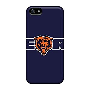 Bumper Cell-phone Hard Covers For Iphone 5/5s (rpf7152brGd) Unique Design Lifelike Chicago Bears Series