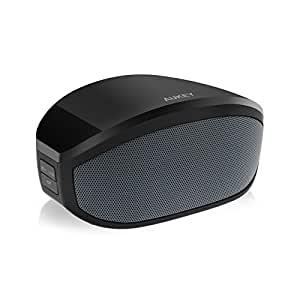 Aukey Portable Wireless Bluetooth Speaker, 8 Hour Playtime, Dual 3W Driver, Enhanced Bass Boost, Built in Mic, 3.5mm AUX Port (BT013, Black)
