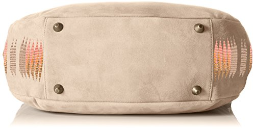 Liebeskind Berlin Niva Embroidery/Suede Leather - Bolso de hombro Mujer Blanco - Elfenbein (light powder 2004)