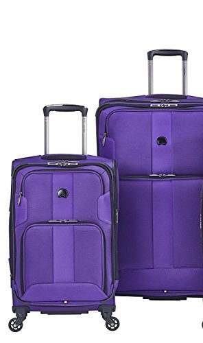 Delsey Luggage Sky Max 2 Piece Luggage Set Carry on and Checked...