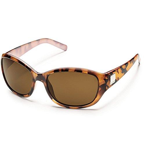 Suncloud Iris Polarized Sunglasses(Brown Polarized Polycarbonet,Tortoise (Iris Plaque)
