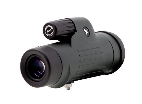 Xgazer Optics 8X42 Point View High powered Monocular- Waterproof Bird Watching, Hunting, Fishing,Travel, Safari, Hiking, Monocular- Long Range, Eye-Relief Monocular w/Neck Strap, Case & Cloth