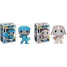 Funko POP! Movies: Disney's Tron Movie Tron and Sark Glow in the Dark NON CHASE Toy Action Figure - 2 POP BUNDLE