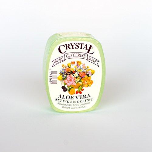 (Crystal Glycerine Soap Bars Aloe Vera (24)