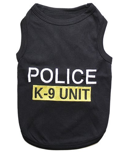 Parisian Pet Police Dog T-Shirt, Small