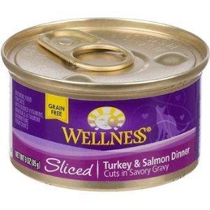Wellness Sliced Canned Cuts Turkey & Salmon Adult Canned Cat Food ( Value Bulk Multi-pack)