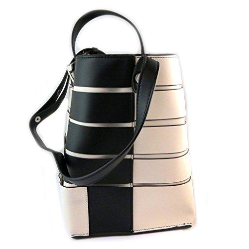 'french P0530 Cm Touch' Beige Bolsa Fiorelli 34x28x20 Negro Colore 5vPxqOO