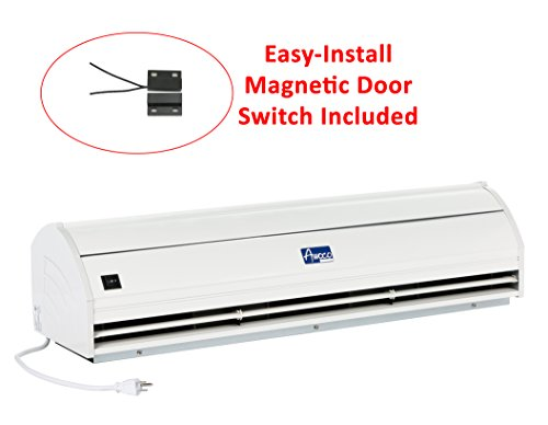 Awoco 36'' Elegant 2 Speeds 900 CFM Indoor Air Curtain with an Easy-Install Magnetic Door Switch by Awoco