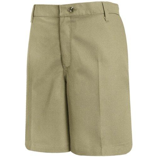 Red Kap Women's Plus Size Plain Front Work Short, Tan, 22 (Uniform Plain Front)