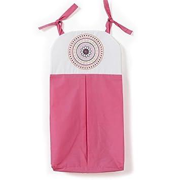 Sophia Lolita apilador de pañales, rosa y blanco