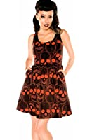 Folter Women's Gothic Rockabilly Skull Dress