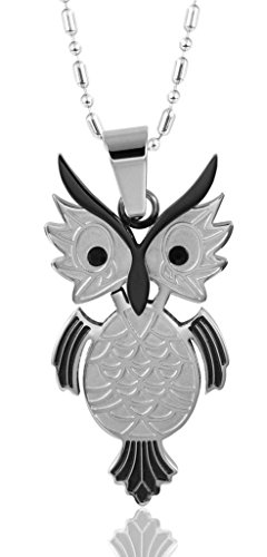 [Gnzoe Jewelry, Women Stainless Steel Funny Owl Shape Pendant Necklace For Her] (Pregnant Basketball Costume)