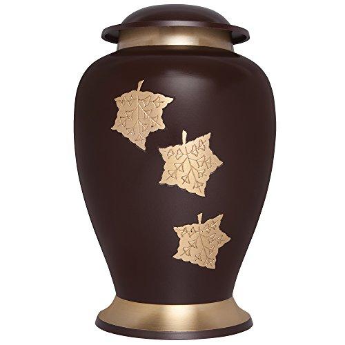 Liliane Memorials Autumn Funeral Decorative Urns, Large, Brown