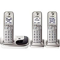 Panasonic KX-TGD213N DECT 6.0 Cordless Phone - Silver - Cordless - 1 x Phone Line - 2 x Handset - Speakerphone - Caller ID - Backlight - KX-TGD213N
