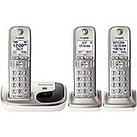 Panasonic KX-TGD213N DECT 6.0 Cordless Phone - Silver - Cordless - 1 x Phone Line - 2 x Handset - Speakerphone - Caller ID - Backlight - KX-TGD213N