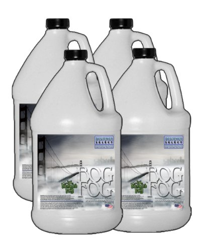 Bog Fog - Extreme High Density Fog Juice - HDF Fog Machine Fluid - 4 Gallon Case - Best Rated and Best Seller - Water Based, American Made and Just Plain Awesome Fog