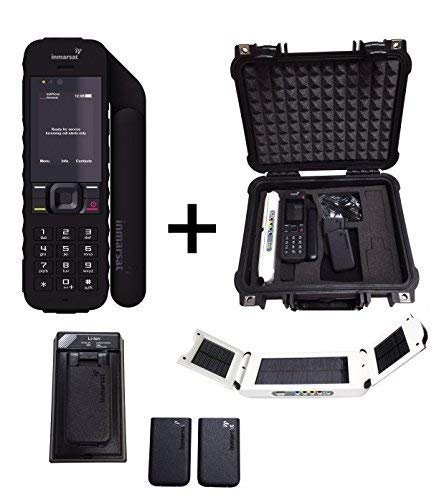 - SatPhoneStore Inmarsat IsatPhone 2 Satellite Phone Emergency Responder Package with Pelican Case, Solar Charger, Extra Battery and Prepaid 500 Unit (385 Minutes) SIM Card for Easy Online Activation