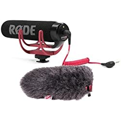 Rode VideoMic GO Lightweight On-Camera Mic BUNDLE w/Rycote Mini Windjammer
