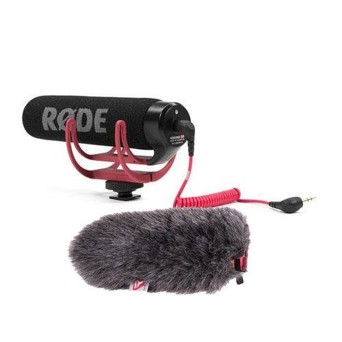 Rode VideoMic GO Lightweight On-Camera Mic BUNDLE w/Rycote Mini Windjammer by Rode