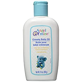 Creamy Baby Oil with Aloe Vera & Vitamin E – 10 oz,(Angel of Mine)