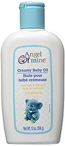 Creamy Baby Oil with Aloe Vera & Vitamin E - 10 oz,(Angel of Mine)