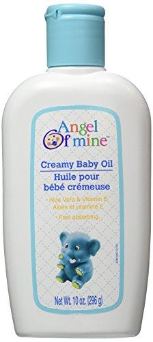 Creamy Baby Oil with Aloe Vera & Vitamin E - 10 oz,(Angel of Mine) (Envelope Marquis)