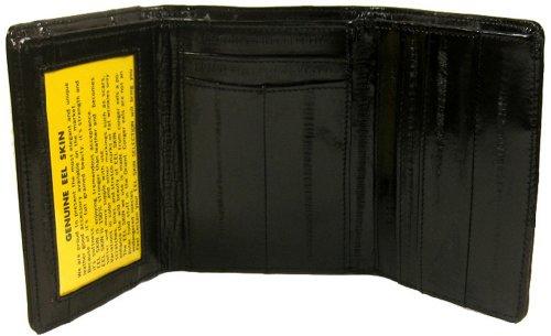 Eelskin Trifold Wallet for Men (Black)