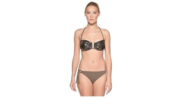 Yamamay Bikini Parte De Arriba Con Estructura + Braguita Brasileña Tabaco ES 40 (IT III): Amazon.es: Ropa y accesorios