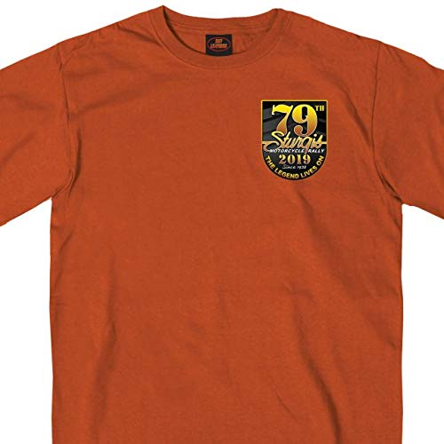 Hot Leathers Mens T-Shirt TXS ORNG Extra Extra Extra Large SPM1770