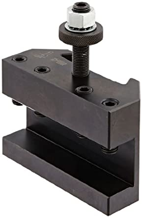 "Dorian Tool QITPN-1 Square Shank Chromium Molybdenum Alloy Steel Quick Change Turning and Facing Toolholder for QITP40N Quadra Indexing Quick Change Tool Post, 1"" - 1-1/4"" Tool Capacity, 4-1/2"" Width, 1-63/64"" Height"