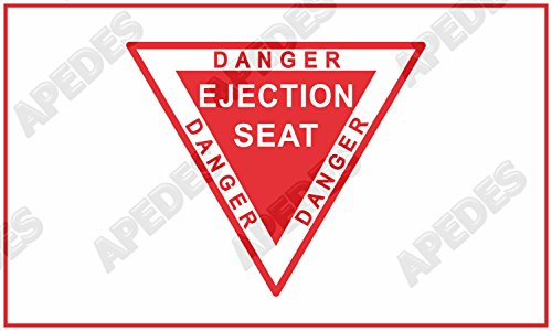 Apedes Danger Ejection Seat Red Warning Computer Car Decal S