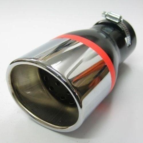 Autohobby 203A Auspuffblende Auspuff Universell Schalldampf Endrohr Blende Edelstahl bis 57mm /Ø Chrom