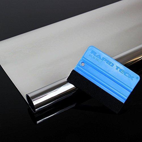 300 x 91 cm Spiegelfolie + Rakel kratzfest Sonnenschutzfolie UV Schutz Sichtschutzfolie 99% UV-Schutz selbstklebend